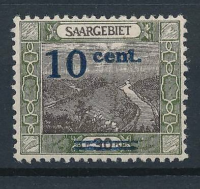 [53072] Saar 1921 Very good Color mistake MH Very Fine stamp $245