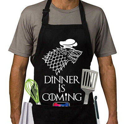 Medieval Game of Thrones style apron   Creative apron   Dinner is coming apron