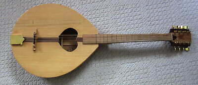 Nice Irish Bouzouki Stringed Instrument, 8 Strings, Handmade, Signed, Numbered