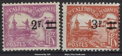 Nouvelle Caledonie Timbre Taxe N° 24/25 Neuf * Avec Charniere