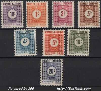 Nouvelle Caledonie Timbre Taxe N° 39/48 Neuf * Avec Charniere