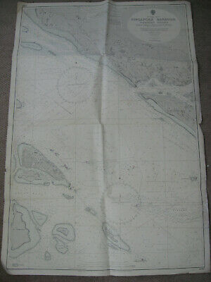 Map Singapore Keppel Harbour Western Roads 1966 admiralty chart Malaya