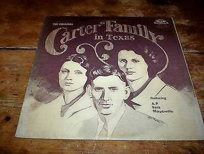 The Original CARTER FAMILY in TEXAS johnny cash: old homestead U.S. VINYL lp NM-