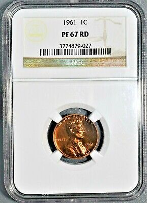 1961 1C Proof Lincoln Memorial Cent, Certified By Ngc Pf67 Rd,  Da34