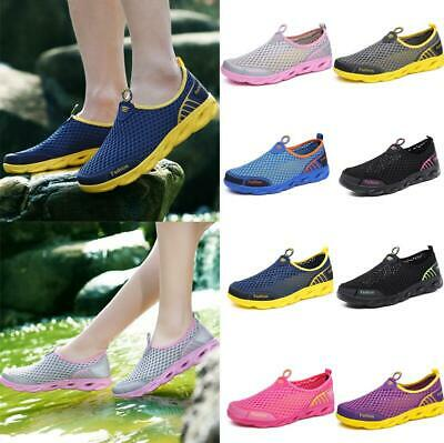 6cce1e573c Women Men Sports Creek Water Shoes Outdoor Beach Sandals Hole Sneakers Slip  on