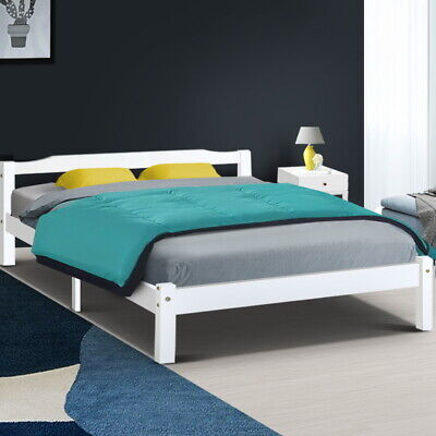 Artiss Bed Frame Queen Double King Single Wooden Mattress Base Timber