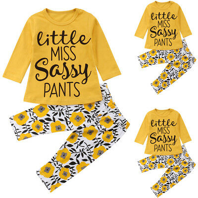 Newborn Infant Baby Girl T-Shirt Top+Floral Pants Leggings Outfit Set Clothes