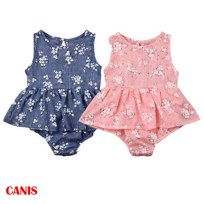 36b6109f0 Newborn Baby Girl Romper Floral Bodysuit Sunsuit Summer Clothes Outfits  0-18M