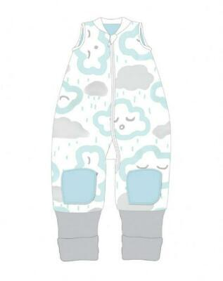 Baby Studio Coolies Sleeping Bag, 1.0 Tog (Peppermint Clouds) - 2-3 Years Free S