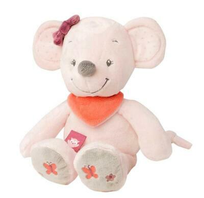 Nattou Adele & Valentine Collection - Cuddly Plush Toy (Valentine The Mouse) Fre