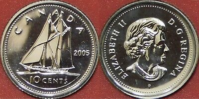 Proof Like 2005P Canada 10 Cents From Mint's Set