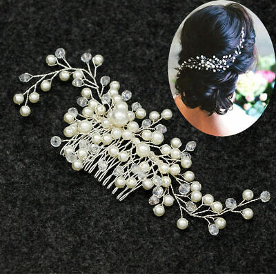 Fashion Bride Bridal Hair Comb Wedding Headwear Pearl Women Hair Accessories