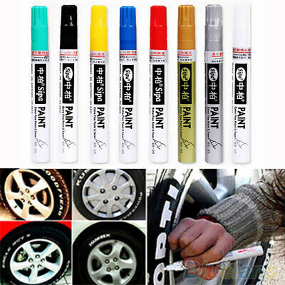Thin Colorful Waterproof pen Car Tyre Tire Tread Metal Permanent Paint marker Yc
