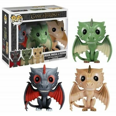 Funko Pop Game of Thrones Exclusive 3 Dragons One Set Drogon+Rhaegal +Viserion