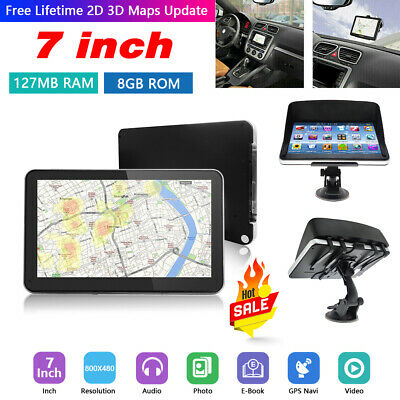 "704 7"" 8GB Car Truck HGV LGV SAT NAV GPS Navigation + Free World Maps Updates"