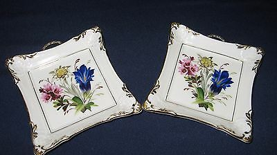 Vintage Small Porcelain Hand Painted Trinket Dish or Ash Tray Flowers