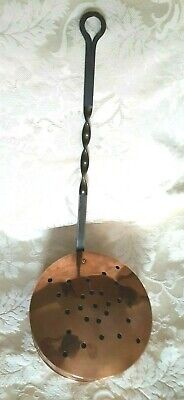 Vintage, Copper And Wrought Iron, Chestnut Roaster
