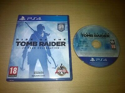 PS4 Rise Of The Tomb Radier 20 Year Celebration Playstation 4 Genuine UK Pal VGC