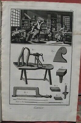"1765 Set of 6 Diderot Engravings- Custom Case Maker - Studio & Tools - ""Gainier"""