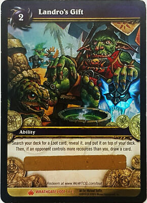 World of Warcraft TCG: Landro's Gift Loot Card *Unscratched*