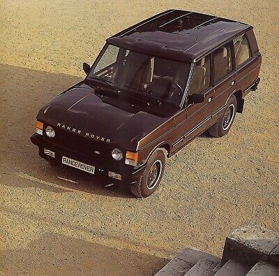 "LAND ROVER ""Range"" Vogue, Vogue SE & Turbo D - 1989 - British sales catalogue"