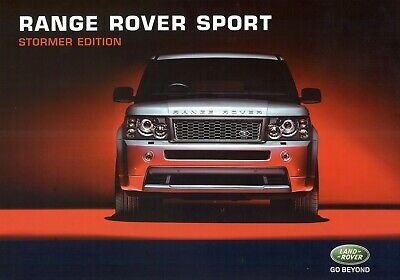 "LAND ROVER Range Rover Sport ""Stormer"" edition - 2007 - Belgian sales catalogue"