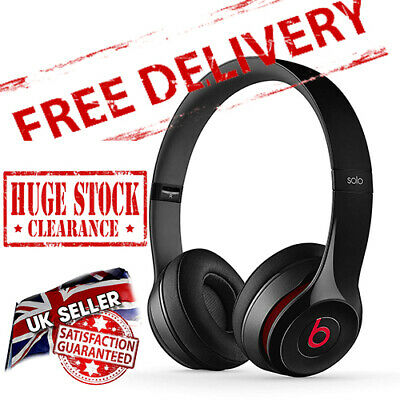Beats By Dr Dre Solo 2 - Glossy Black /Red - Wired On-Ear Headphones - Read More