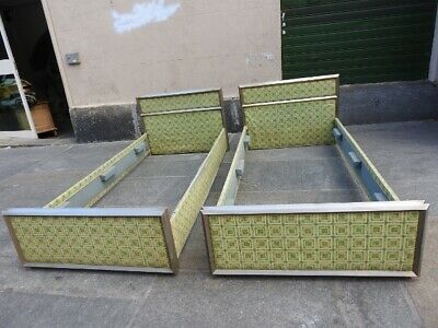 Original Bed Years 70 Pair Bed Modernism Vintage Retro '