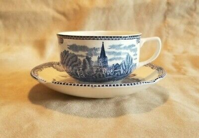 Johnson Brothers Blue 'Old Britain Castles' Tea Cup and Saucer