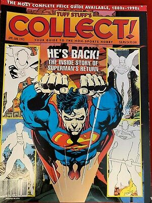 """TUFF STUFF'S COLLECT - Apr. - June 1993 - NON-SPORTS HOBBY- """"HE'S BACK"""""""