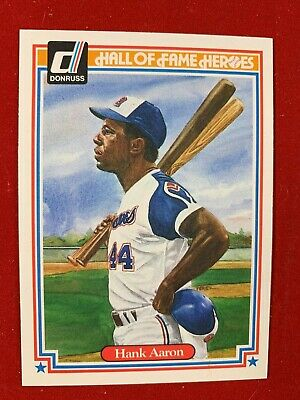 """1983 Donruss """"Hall of Fame Heroes"""" FULL SET 43 CARDS - BEAUTIFUL Aaron !!"""
