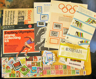 Postage Stamp Album Assortment, Olympic Sports and More