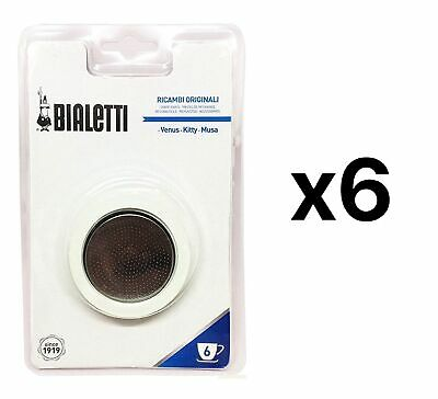 Bialetti Filter Plate Replacement Parts For 6 Cup Espresso Maker (6-Pack)
