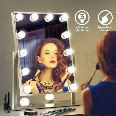 Maxkon Hollywood Makeup Mirror 12 LED Light Bulb Vanity Sensor Touch Control