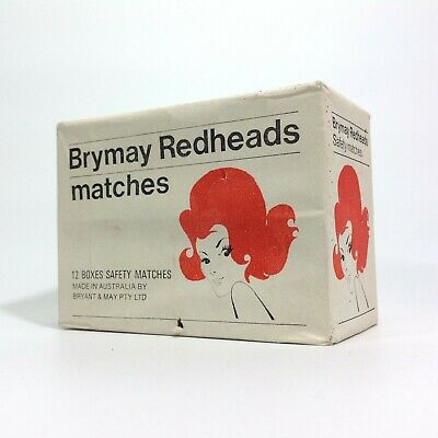 Vintage Redheads Matches Carton 12 Box Pack Unopened