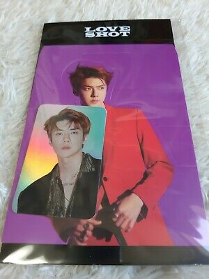 EXO LOVE SHOT Hologram Photo Card Set SEHUN Official goods Tracking Number