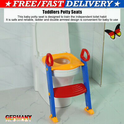 Kinder Toilettentrainer Toilettensitz Lerntöpfchen 3in1 WC PP Sitz + Treppe HOME