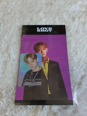 EXO LOVE SHOT Hologram Photo Card Set CHEN Official goods Tracking Number