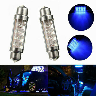 2pcs New 42mm C5W 239 8 SMD LED Car Interior Festoon Dome Light Lamp Bulb Blue
