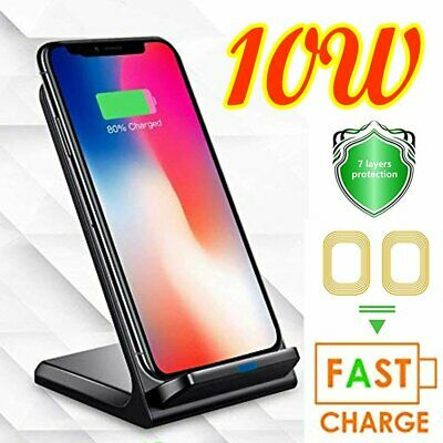 Luxury Qi Fast Wireless Charger Charging Stand For Samsung Galaxy S10 S9 S8 Plus
