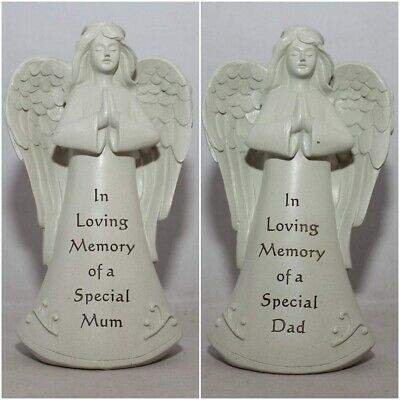 Memorial Standing Angel Resin Stone Grave Cemetery Garden Choice of Name