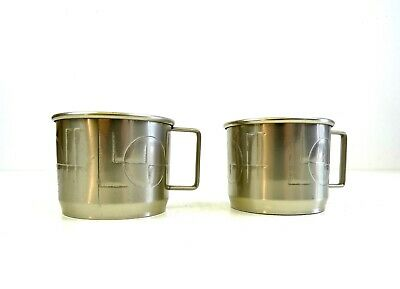 Stunning Pair Suprematism  Art Deco Cubist Coffe & Tea Glass Holder Bauhaus 1925