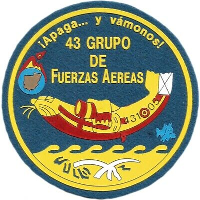 Ejercito Aire Grupo 43 Group Spain Air Force Eb01248 Parche Insignia Emblema