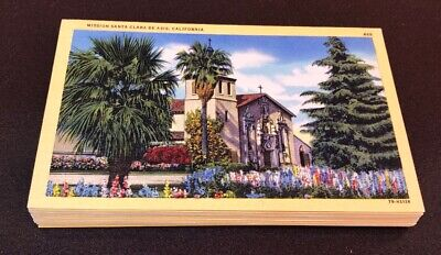 Vintage California Linen Postcard Lot ~ Circa 1935 Unposted Pictorial Wonderland