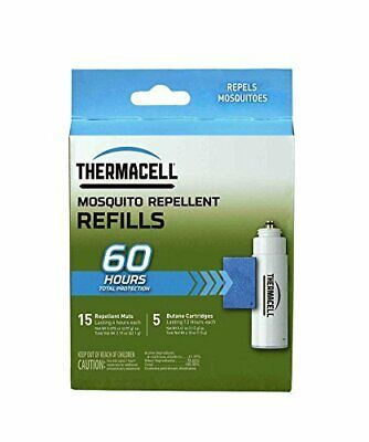 Thermacell Mosquito Repellent Refills,60-Hour Pack;15 Repellent Mats