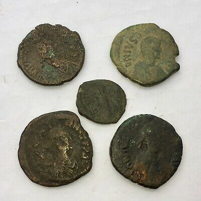 Collection Of Ancient Byzantine Circa 500-570 Ad Justine Justinian Follis Coins