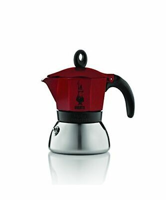 Bialetti - Moka Induction - Caffettiera 3 tazze, [0004922] [Rouge/Inox] NEUF