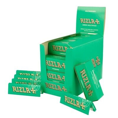 Full Box of 100 Booklets Rizla Green Medium Thin Rolling Cigarette Papers £16.99