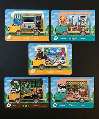 Welcome Amiibo Card YOU PICK LOT Animal Crossing - Series 5 New Leaf 3DS RV Set