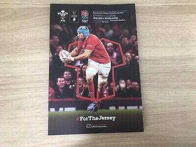 Wales v England 2019 Guiness 6 Nations Rugby Programme